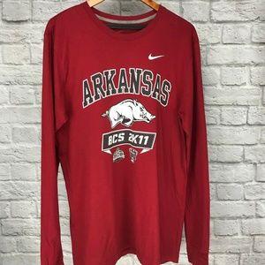 Nike Arkansas Razorbacks BCS Sugar Bowl Shirt Lrg